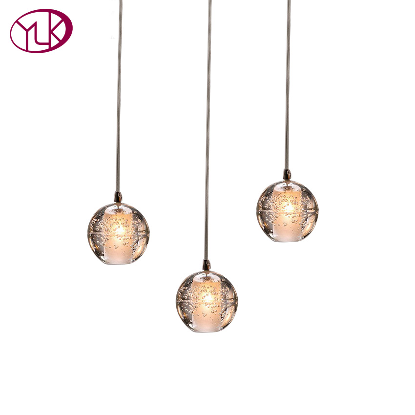 Youlaike Modern Chandelier Lighting 3 Lights Dining Room Crystal Light Fixture Flush Mount Hallway Lustre LED Lamp wrought iron chandelier island country vintage style chandeliers flush mount painting lighting fixture lamp empress chandeliers