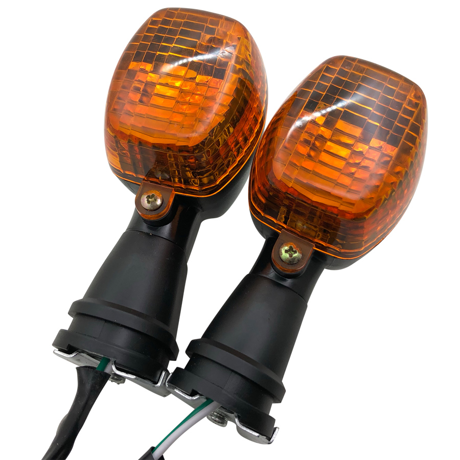 2PCS Front Motorcycle Turn Signal Light Indicator Lamp For kawasaki ZXR250 ZXR400 ZXR750 ZXR KLE 250/400/500 ZRX1200R ZRX1200S image
