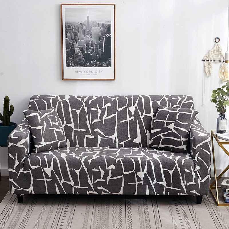 Фиолетовый фон с цветочным принтом чехол для дивана мебельные чехлы из ткани-Стретч эластичный диван вытирается полотенцем для Гостиная угловой диван 1/2/3/4-seater