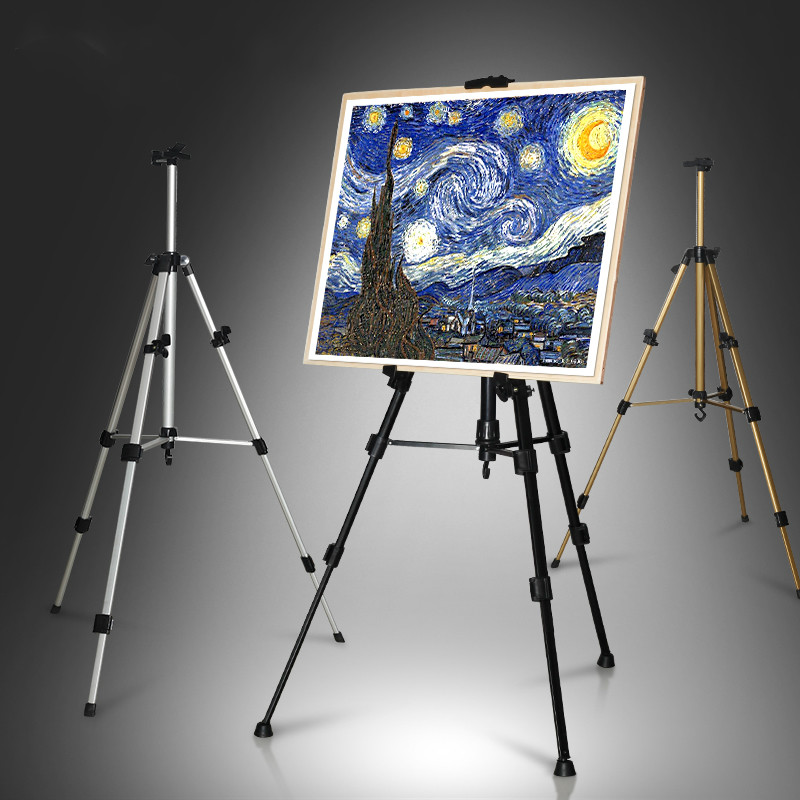 Triangle Easel High Quality Aluminium Alloy Caballete Pintura Easel for Painting Drawing Sketch Easel Art Supplies for ArtistTriangle Easel High Quality Aluminium Alloy Caballete Pintura Easel for Painting Drawing Sketch Easel Art Supplies for Artist
