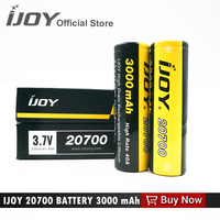 Offical Ijoy 20700 Battery 3000mah 40A Li Ni High Drain Rechargeable Battery For IJOY Captain