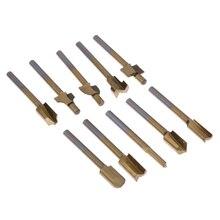 "10 unids 1/8 ""hss archivos titanium coated mini 3mm de madera de madera fresas fresa adapta dremel rotary set herramienta de carpintero"