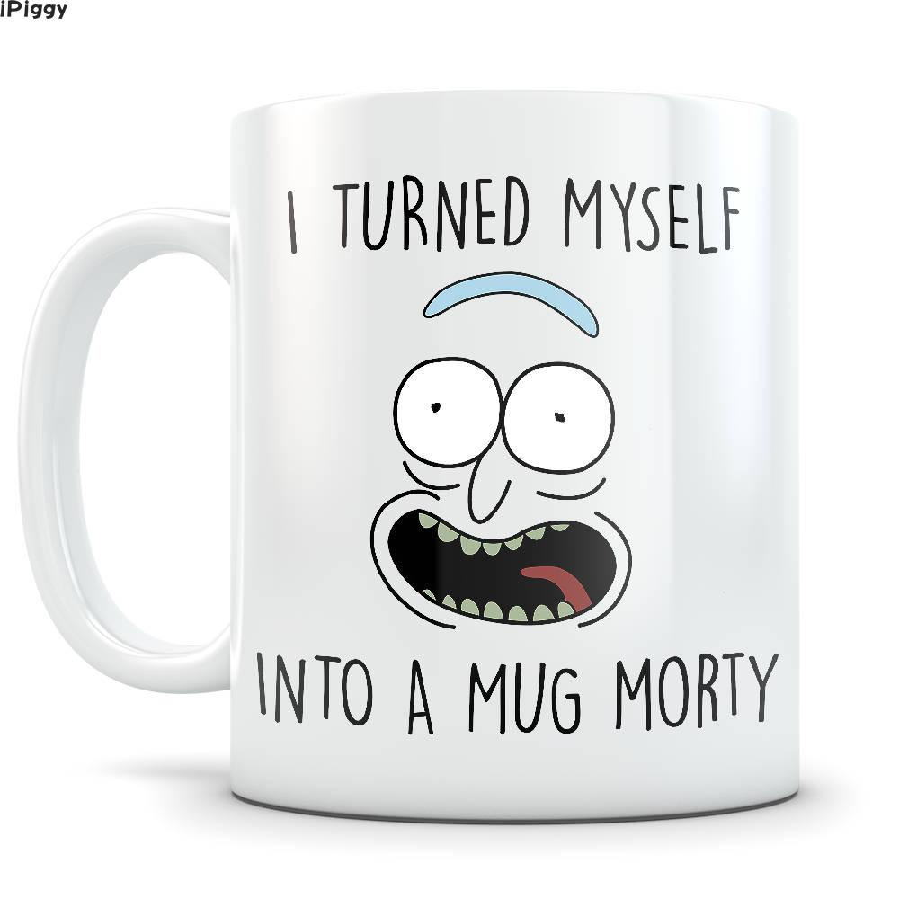 Rick And Morty Mug Pickle Rick Parody Mugs Home Decal Tea Cup Engagement Dishwasher Microwave Safe Beer Mugen Coffee Wedding Cup