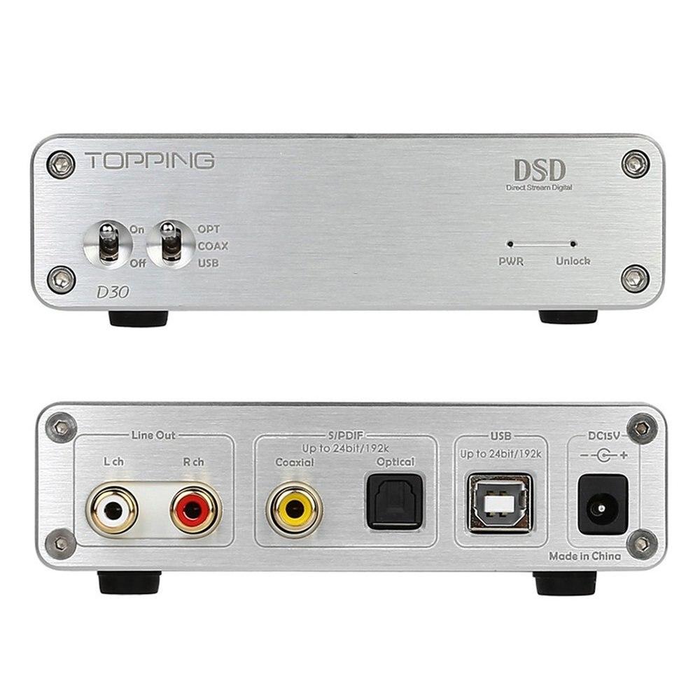 Topping HIFI Desktop D30 Decoder  DSD XMOS CS4398 24Bit 192KHz Decoder