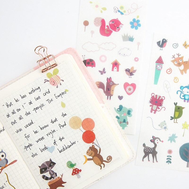 Aliexpress.com : Buy 6 Sheets Cute Cartoon Animals of ...