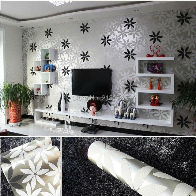 Zxqz 244 efecto espejo pared papel pintado plata papel pintado reflexivo cubierta cubierta de - Muebles pintados en plata ...