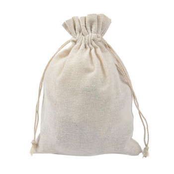 Ferimo 50pcs 15*20cm pure cloth bag sucker rope pocket high-end gifts environmental protection packaging cotton bag wholesale