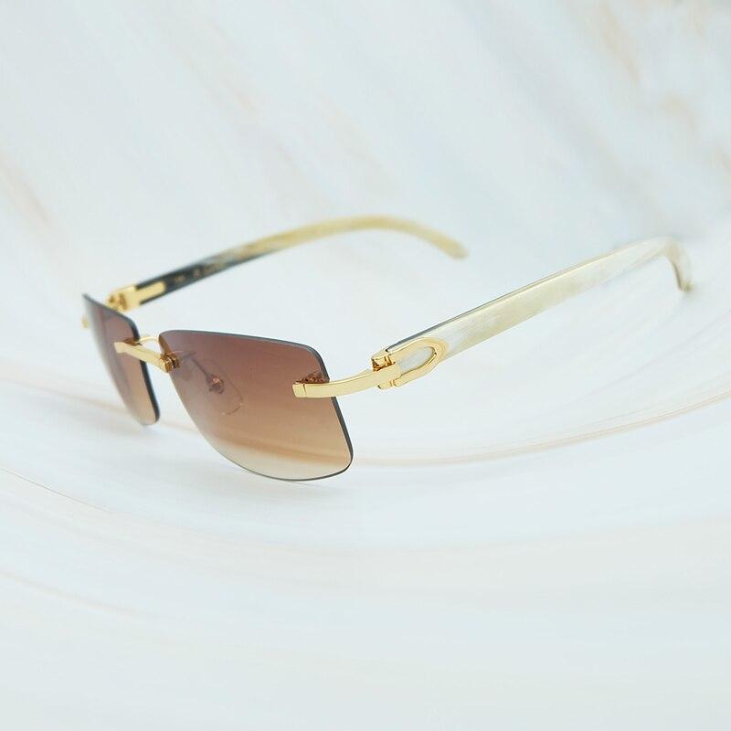 53d37d1c8258b Nature Buffs Horn Sunglasses Men 2018 Trend Fashion Rectangle Women ...