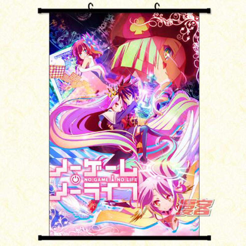Us 165 Anime Poster Movie Wall Scroll No Game No Life Zero Shuvi Dola Home Decor Gift Japanese Cartoon Decorative Poster In Painting Calligraphy