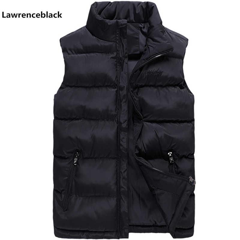 2018 Повседневный жилет Для мужчин зимние Куртки без рукавов мужские новые  модные однотонные жилет Для мужчин ecc512f97f8