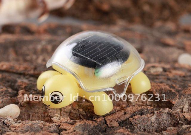 very hot New arrive 1pc Mini Solar Tortoise toy Solar Powered Tortoise Solar energy toy free shipping