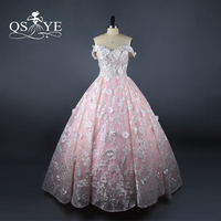2018 New Arrival Pink and White Long Prom Dresses Off the Shoulder Sweetheart Lace Applique Arabic Vintage Evening Dress Vestido