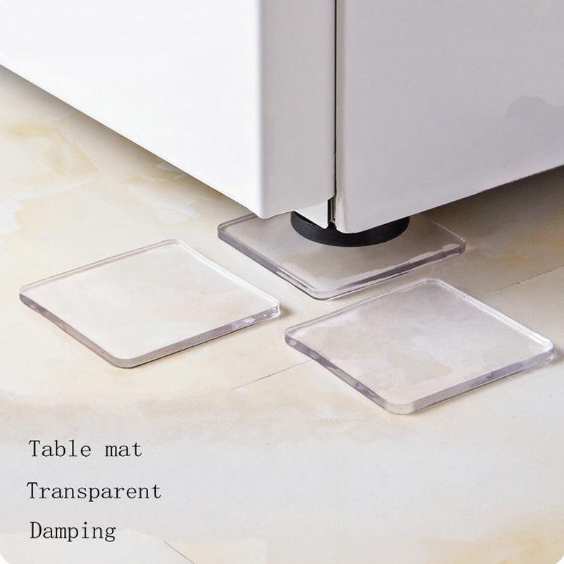 Hot 4 Pcs Washing Machine Refrigerator Chair Cushion Shock Proof Pad Furnitures Anti Slip Pad MDD88