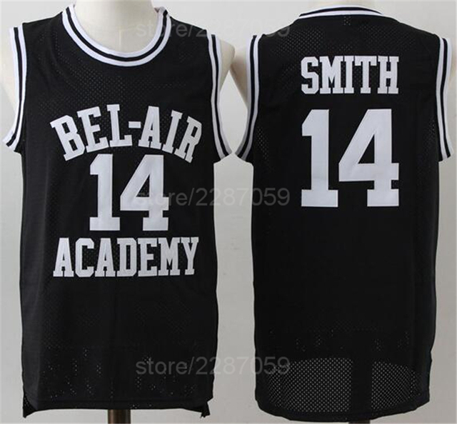Ediwallen BEL-AIR Basketball OF The Fresh Prince Jerseys BEL AIR Academy 14 Will  Smith Movie Jersey Clothes (TV Sitcom) Yellow bdd2e60ce