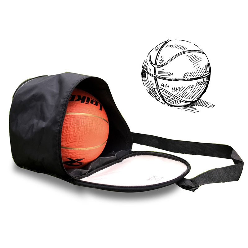 PU Leather Black Basketball Shoulder Bag Waterproof Sport Soccer Ball Bags Handbag Football Volleyball Carry Storage Gym Bag(China)