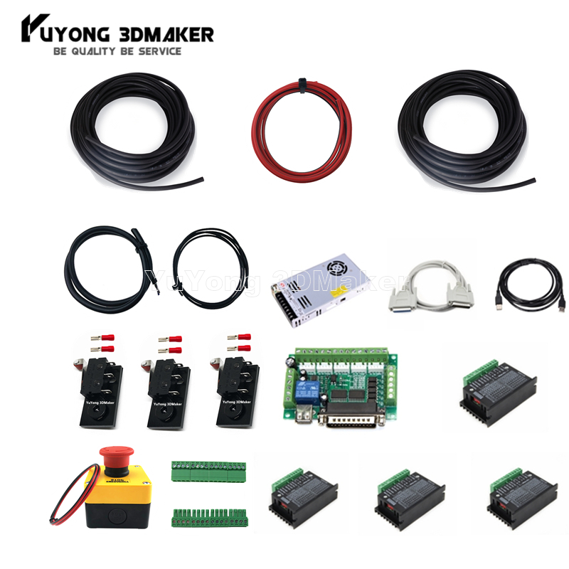 Parallel port control Mach 3 Electronic Controller Combo For Workbee OX CNC and other CNC Milling