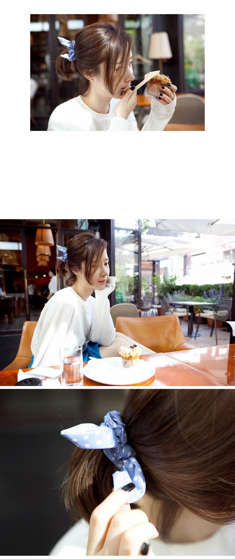 HTB1yfJOKXXXXXcmXXXXq6xXFXXXD Cute Polka Dot Rabbit Ears Hair Tie For Women - Various Styles