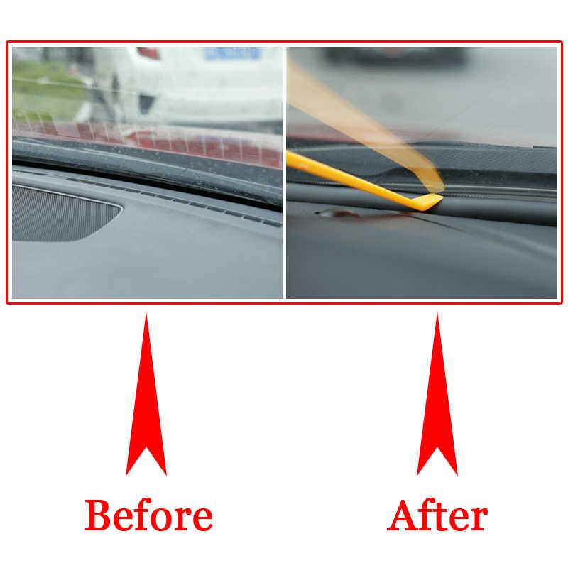 QCBXYYXH voiture-style en caoutchouc Anti-bruit insonorisé Anti-poussière voiture tableau de bord pare-brise bandes d'étanchéité pour Renault Captur 2011-2018