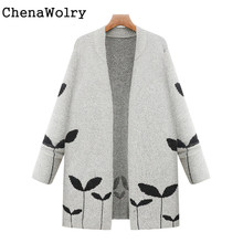 Casual Winter Warm font b Women s b font Fashion Open Front knitting font b Coat