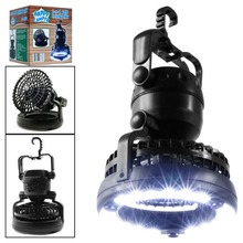 Camping Ceiling Fan Light Portable Hanging Flashlight 18LED Lantern Battery Power/USB Rechargeable Tent Lamp