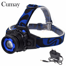 Newest 800lm Q5 LED Headlamp 3 Mode Zoomable Led Head Light linterna Frontal (Built-in lithium Battery)  For Camping lamp