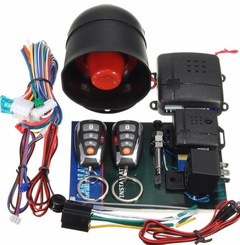 Capteur automatique de sirène de système d'alarme de voiture de télécommande à sens unique et système d'entrée sans clé de sécurité de verrouillage de porte centrale pour Toyota