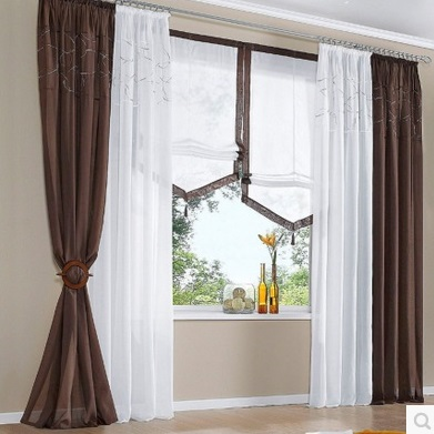 Morden Embroidered Cotton Balcony Window Tulle Curtains Grey White Brown Sheer Cortinas For In From Home Garden On Aliexpress