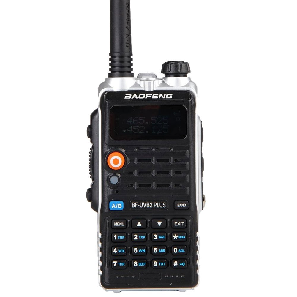 8W High Power 4800mAh Li-ion Batteri LEG Belysning Ny Baofeng Dual Band To-vejs Radio BF-UVB2 Plus Walkie Talkie UVB2