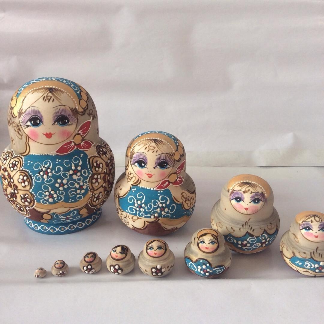 10 слоев 15 см русские куклы, деревянные куклы ручной работы, Матрешка для домашнего декора, развивающие игрушки, творческие подарки на день р...