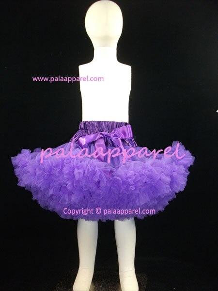3-слойная шифоновая пачка Великолепный мягкий объемная юбка-пачка Pettiskirt Deluxe Многослойные детские юбки для маленьких девочек Детская poto реквизит - Цвет: purple