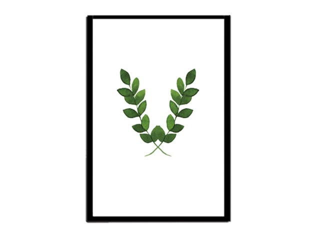 Styles Nordic Minimalist Plants Canvas Art Print Poster Green Leaf Painting On Wall Pictures For Living Room No Framed