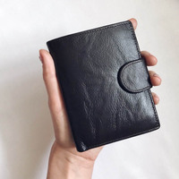 DALFR Genuine Leather Wallets Men Christmas Gift Male Short Wallet Card Holder Hasip Style Fashion Money Coin Purse for Men