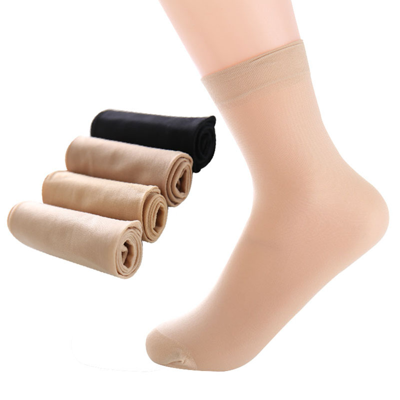 Hot Sale!10pair=20pieces High Quality Women Velvet   Socks   Female   Socks   Summer Thin Silk Transparent Ankle Sox Women's   Socks   Meias