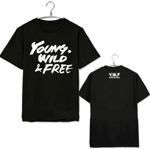 Mode Unisex Shirt Kpop BP Jong Bap Zomer Wild Korte T Mouw 76ygbYf