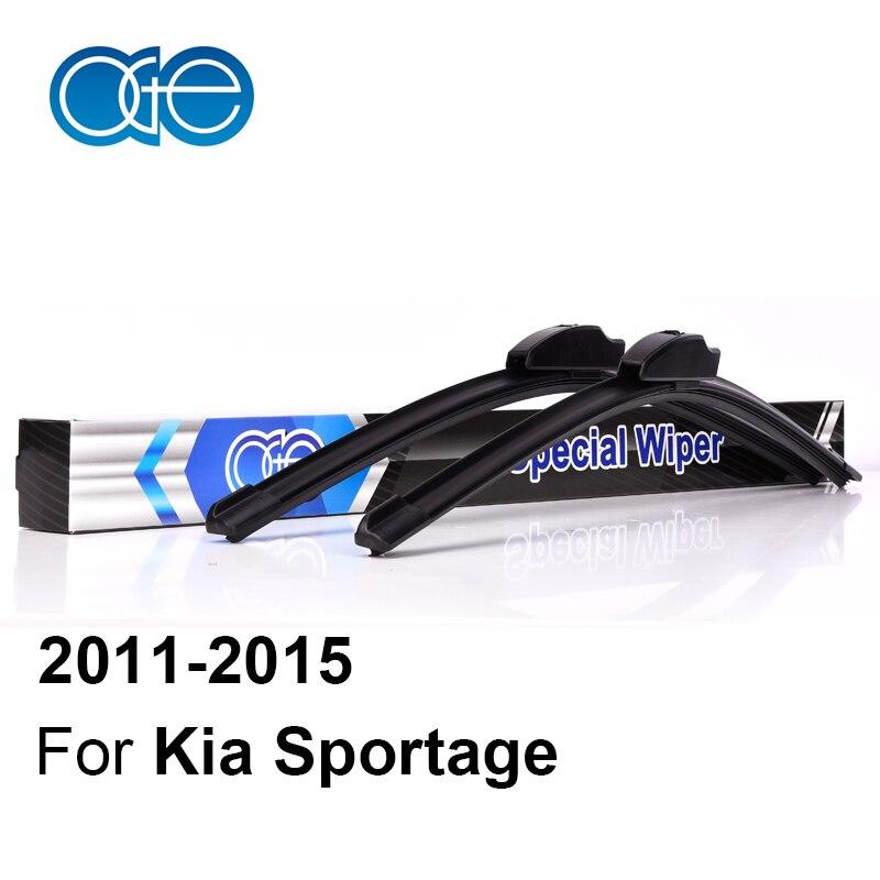 Oge Wiper Blades For <font><b>KIA</b></font> Sportage 3 SL 2011 2012 2013 2014 2015 High Quality Rubber Windscreen Car Accessories
