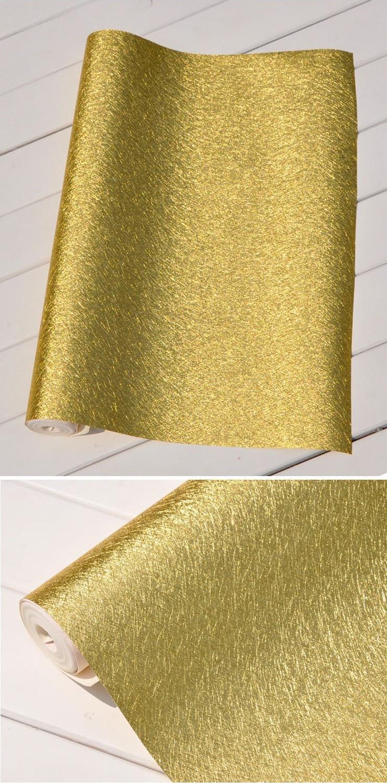 Aliexpress.com: Koop Goudfolie behang muren, goud behang plakken ...