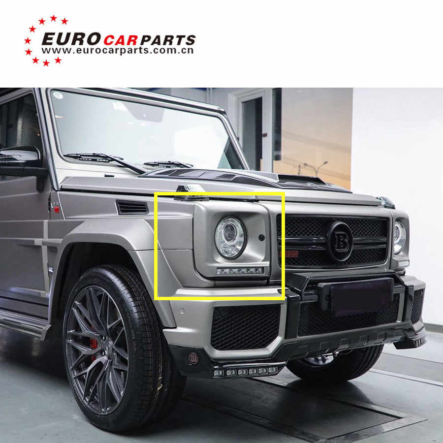 G class w463 G63 g65 G500 headlight cover with led lights LED DAY RUNNING  LIGHTS for w463 G63 G65 G500 4*4 led work light