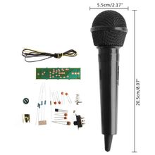 цена на OOTDTY FM Frequency Modulation Wireless Microphone Suite Electronic Teaching DIY Kits