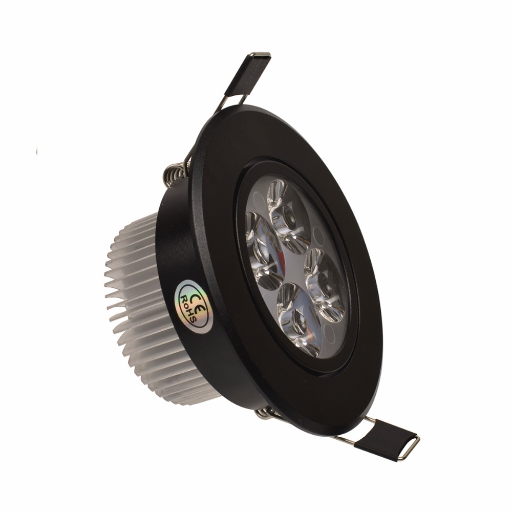 3W 4W 5W Led Downlight Dimmable 110V 220V Սև Shell կլոր - Ներքին լուսավորություն - Լուսանկար 3