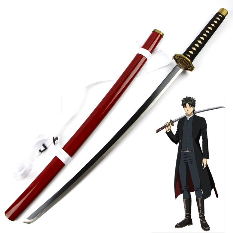 Brave Silver Soul Gintama Hijikata Toushirou Wooden Sword Cosplay Prop Costume Props