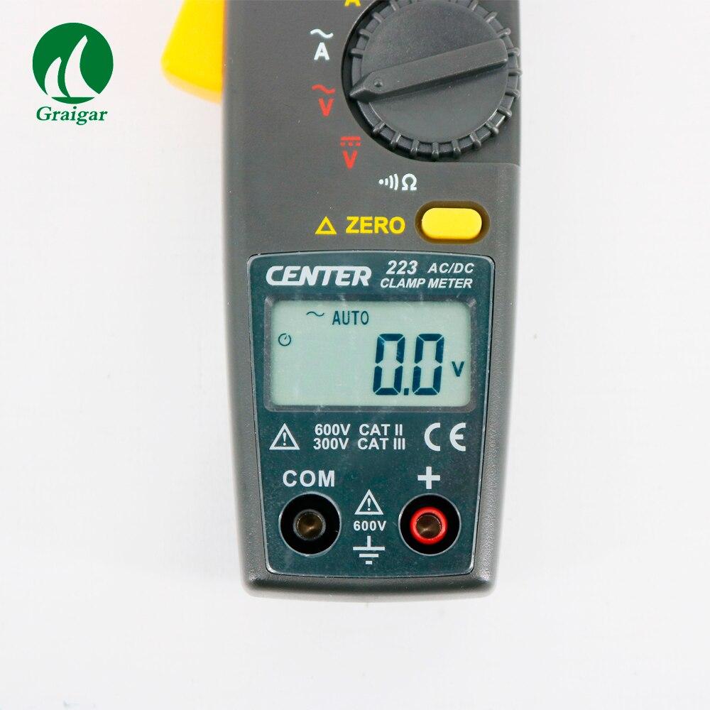 Токовые клещи переменного тока центр 223 мини зажим измерительный прибор Токоизмерительные клещи Тестер файла с преобразователем напряжени... - 4