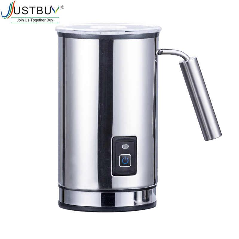 Aço inoxidável 3 Função Leite Batedor de Leite Elétrica Steamer Aquecedor com Nova Espuma de Densidade para Latte Cappuccino Creamer Leite Quente