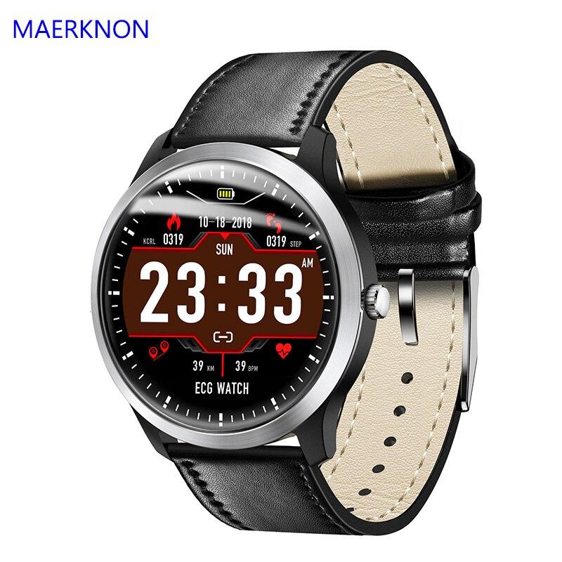 Monitor de Freqüência Cardíaca à Prova Água para os Homens e as Mulheres Compatíveis com a Apple Maerknon Inteligente Relógio Exercício d' Android N58 Ip67