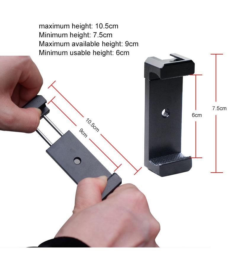 Tripé Adaptador de Montagem para o iphone 7 7 Plus 8 Smartphone Android