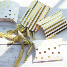 New 10pcs gold candy Box as Gift Cookie Sweet Packaging wedding favors gifts birthday DIY use christmas party