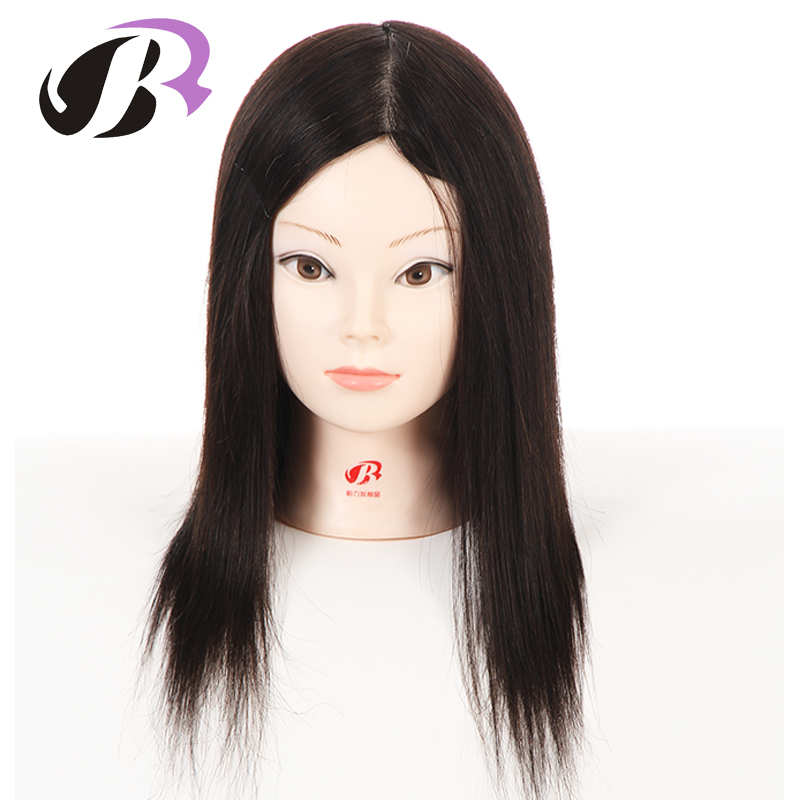 Free Shipping Female 14 Natural Human Hair Mannequin Head Maniqui Hairdressing Dolls Hairstyling Training Model Wig Dummy graceful short side bang fluffy natural wavy capless human hair wig for women
