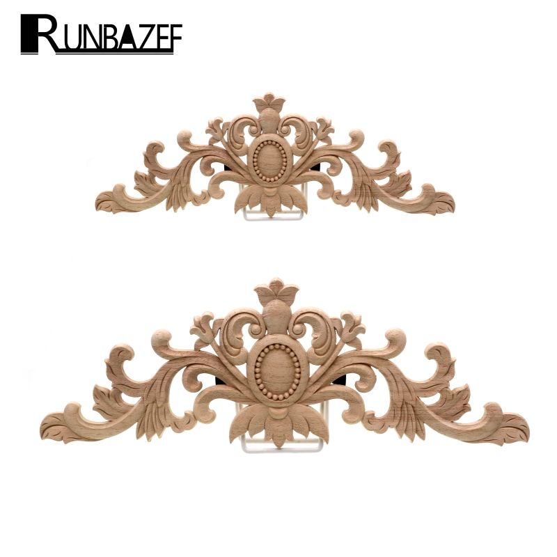 Runbazef Furniture Decorative Wood Carving Door Decals Long Bed White Peihua Tablets Ornaments Mini Crossbow Vintage Home Decor