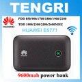 Original huawei e5771 e5771h-937 9600 mah power bank 4g lte router wi-fi hotspot móvel