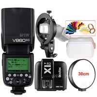 Godox V860II-C Speedlite HSS 1/8000 s TTL Blitzlicht + X1T-C Wireless Flash Trigger Sender + Bowens S-typ Halterung für Canon