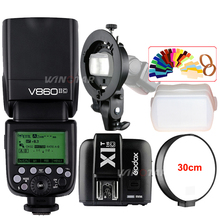 Godox V860II-C Speedlite HSS 1/8000s TTL Flash Light +X1T-C Wireless Trigger Transmitter+ Bowens S-Type Bracket for Canon